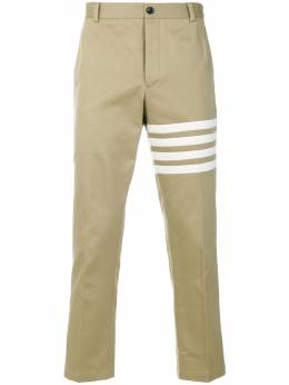 Thom Browne Seamed 4-Bar Stripe Unconstructed Chino Trouser In Cotton Twill MTU245A03788