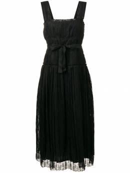 Bottega Veneta полосатое платье с завязкой на талии 542964VEYW1