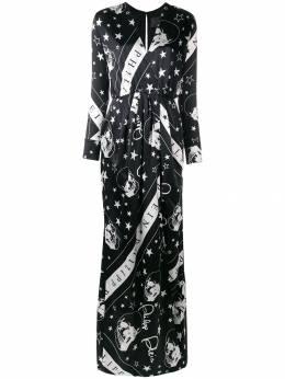 Philipp Plein платье с принтом и запахом P19CWRG1025PTE062N