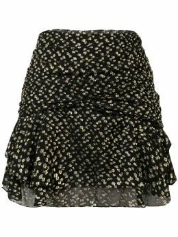 Saint Laurent драпированная юбка мини с принтом 484353Y948T