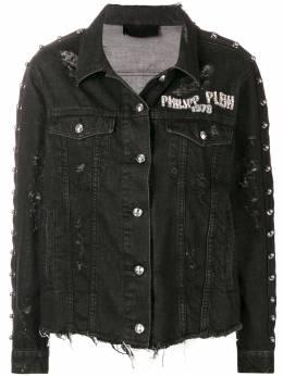 Philipp Plein джинсовая куртка с рваными деталями S19CWDB0256PDE004N