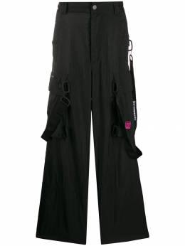 Off-White брюки карго свободного кроя OMCF009E19E150221001