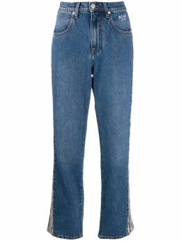 MSGM джинсы с тиснением под кожу питона 2741MDP46LY195785