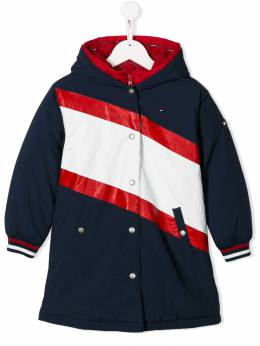 Tommy Hilfiger Junior пуховик в стиле колор-блок KG0KG04467