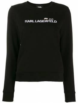 Karl Lagerfeld толстовка Ikonik с логотипом 96KW1824999