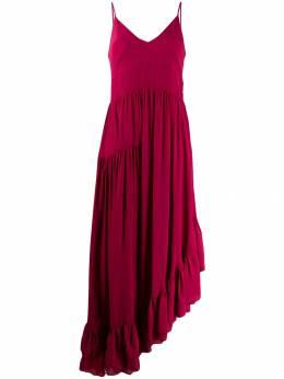 Twin-Set платье асимметричного кроя с оборками 192TP2384