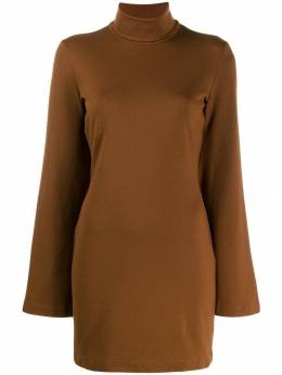 Sara Battaglia короткое платье с высоким воротником SB1008311