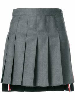 Thom Browne Striped Pleated Fun Mix Mini Skirt FGC402F03532