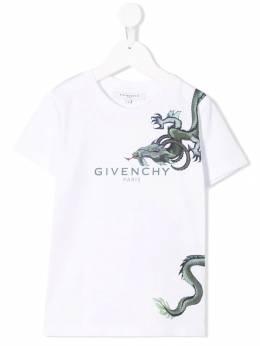 Givenchy Kids Mythical Creature print T-shirt H2513910B