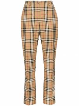 Burberry брюки Dana прямого кроя в клетку Vintage Check 8016903