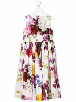 Dolce & Gabbana Kids платье с цветочным принтом L51DK3HS5CX