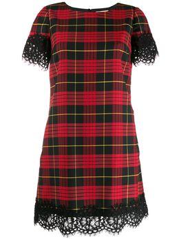 Twin-Set кружевное платье с фестонами 192TP2621S09882