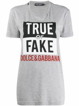 Dolce&Gabbana футболка True or Fake F8K74TG7STQ