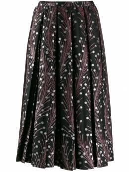Marco De Vincenzo расклешенная юбка с вышивкой MQ5219MDVPL12