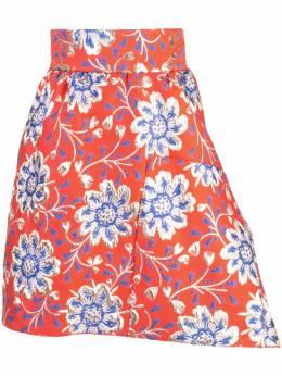 Maison Rabih Kayrouz жаккардовая юбка мини с цветочным узором S1003F