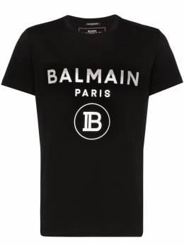 Balmain футболка с логотипом SH01601I194
