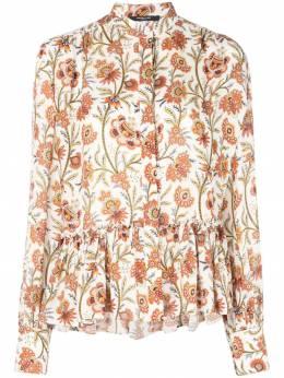 Derek Lam блузка с длинными рукавами и цветочным принтом DP91754FP