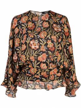 Derek Lam блузка с короткими рукавами и оборками на подоле DP91766FP