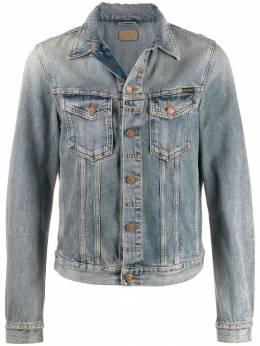 Nudie Jeans джинсовая куртка с эффектом потертости 160606