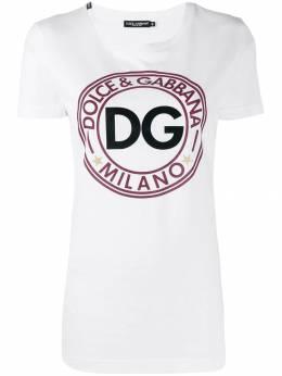 Dolce&Gabbana футболка с логотипом F8H32TG7TEC