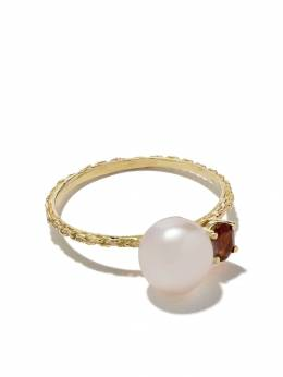 Wouters&Hendrix Gold золотое кольцо с гранатом и жемчугом R162GYG