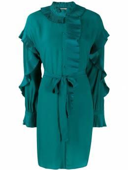 Twin-Set платье-рубашка с плиссированными оборками 192TP2101