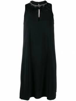 Twin-Set платье с отделкой на воротнике 192TP2111