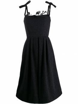 Marco De Vincenzo декорированное перьями платье MD5462MDVPL13