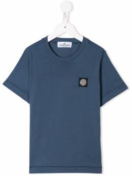 Stone Island Junior футболка с нашивкой-логотипом MO711620147