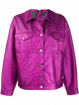 MSGM куртка свободного кроя с эффектом металлик 2741MDH42L195786