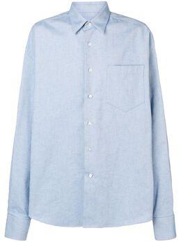 Ami Paris рубашка оверсайз с нагрудным карманом H19C101408