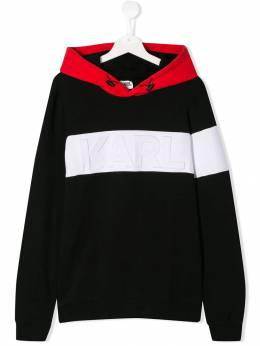 Karl Lagerfeld Kids худи с тисненым логотипом Z25200
