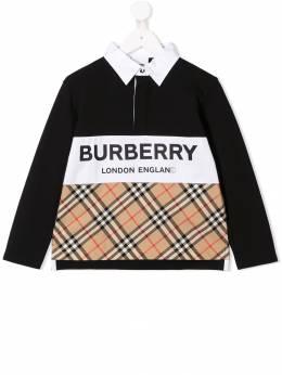 Burberry Kids рубашка-поло в клетку 8012393