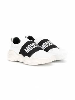 Moschino Kids кроссовки с логотипом 63719V3K
