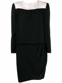 A.N.G.E.L.O. Vintage Cult платье асимметричного кроя 1980-х годов с длинными рукавами ANGE350F