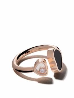 Chopard кольцо 'Happy Hearts' с ониксом и бриллиантом 8294825208