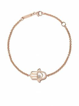 Chopard 18kt rose gold Good Luck Charms diamond bracelet 8578645001