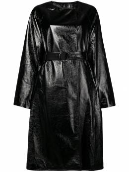 Three Floor vernished double breasted coat 1103