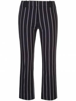 10 Crosby Derek Lam укороченные брюки в полоску с плетением по бокам TP91101ST