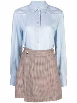 10 Crosby Derek Lam платье рубашка с контрастной юбкой из твила TP92523YC