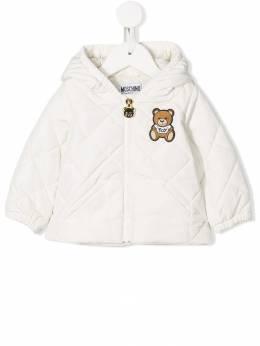 Moschino Kids - пуховик с вышивкой 69EL3A96959633980000