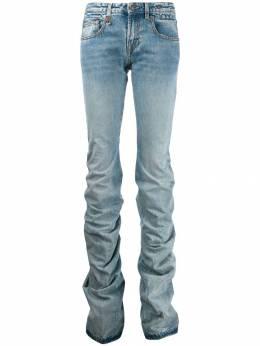 R13 джинсы прямого кроя со сборками R13W7169684