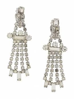 Susan Caplan Vintage серьги-подвески 1960-х годов с кристаллами ER021631
