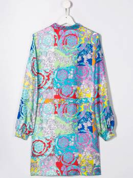 Young Versace - платье-рубашка с цветочным принтом 66688YA66066YA366950