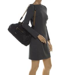 Marc Jacobs Black Quilted Leather Stam Shoulder Bag 210629