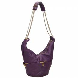 Chloe Purple Leather Shoulder Bag
