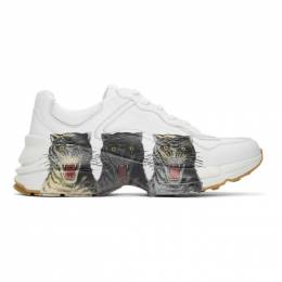 Gucci White Rhyton Sneakers 576050 DRW00