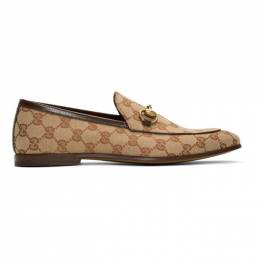 Gucci Beige New Jordaan Loafers 430088 9Y9W0