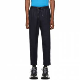 Kenzo Navy Wool Tapered Trousers F965PA2151RE