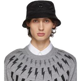 Neil Barrett Black Pierced Bucket Hat 192368M14000101GB
